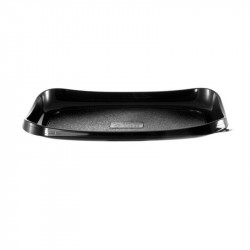 Envase rect.negro SUSHI 215x120x25(interior) /450