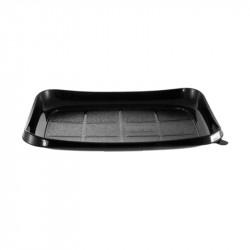 Envase rect. negro SUSHI 225x165x20(Interior) /400