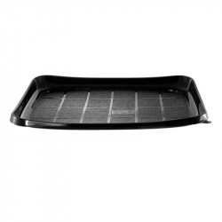 Envase rect. negro SUSHI 300x220x20(Interior) /200