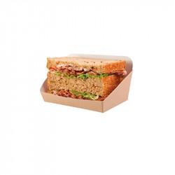 Envase 2 Mitades Sandwich Cartón KRAFT /500