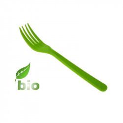 Tenedor Biodegradable Verde PP BIO 16 cm. 100/1000