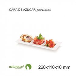 Plato Dedra Cuadr - 3 compart - 260x110x10mm