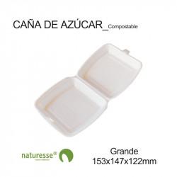 Envase Burguer Tapa Plegable - Grande