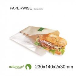 Bolsa Sandwich - PaperWise/PLA - 230x140x2x30mm