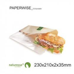 Bolsa Sandwich - PaperWise/PLA - 230x210x2x35mm