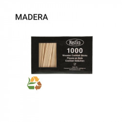 Caja Palillos de Madera Cocktail - Compostable