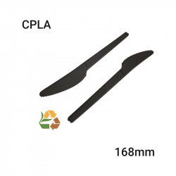 Cuchillo Negro Compostable - CPLA