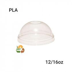 Tapa cúpula para vaso compostable PLA 12/16oz