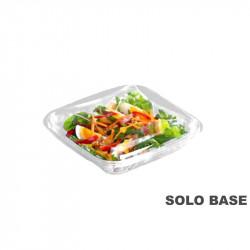 Base envase cuadrado transparente 370 cc