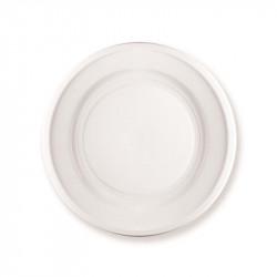 154256 Plato Hondo Ø: 22 cm. Blanco PS 10 gr.1200