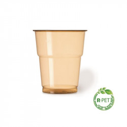 Vaso 250 cc. Ø:78mm R-PET Ambar Naturia 50/1000