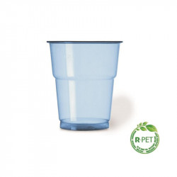 Vaso 250 cc. Ø:78mm R-PET Azul Naturia 50/1000
