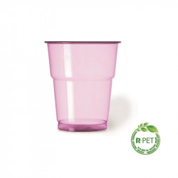 Vaso 250 cc. Ø:78 mm. R-PET Fucsia Fiesta 25/625