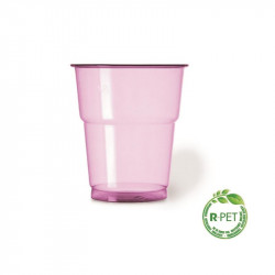 Vaso 250 cc. Ø:78mm R-PET Fusia Naturia 50/1000