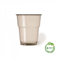 Vaso 250 cc. Ø:78mm R-PET Gris Naturia 50/1000