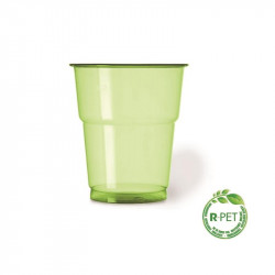 205052 Vaso 250cc Ø:78mm.R-PET Verde Fiest 25/625