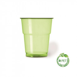 Vaso 250 cc. Ø:78mm R-PET Verde Naturia 50/1000