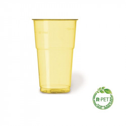 Vaso 350 cc. Ø:78 mm. Alto R-PET Amarillo F 20/500