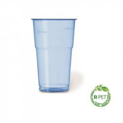 Vaso 350 cc. Ø:78 mm. Alto R-PET Azul 20/500
