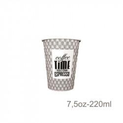 Vaso Papel 7,5 Oz. COFFEE TIME -50 -1000