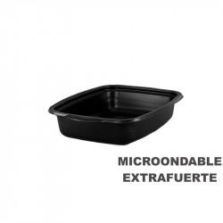 Envase Microondas Base Negra 1000cc 254x187x48/200