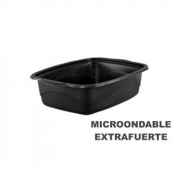 Envase Microondas Base Negra 1500cc 254x187x68/200