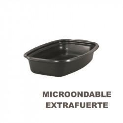 Envase Microondas Base Negra 500cc, 218x140x43/380