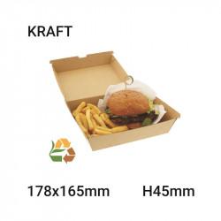 Caja de comida compostable 178x45x165