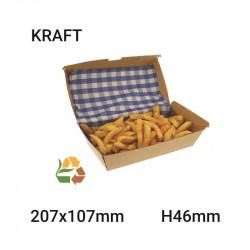 Envase de comida compostable 207x46x107