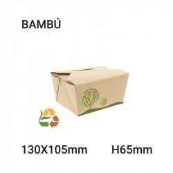Envase Comida Compostable 130x65x105mm - 750ml