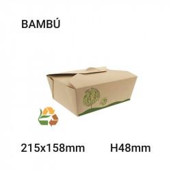 Envase de Bambú Compostable 251x48x158mm - 1400ml