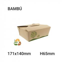 Envase de bambú compostable 171x65x140mm - 1000ml