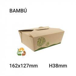 Envase de bambú compostable 162x38x127mm