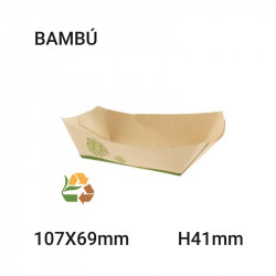 Bandeja Bambú Compostable 907 grs 107x41x69mm