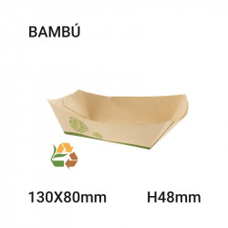 Bandeja de comida compostable 1,134kgs 130x48x80mm