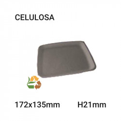 Bandeja grande negra 4comp - 185x185mm - H30mm