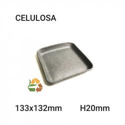 Bandeja kraft - 133x132mm- H20mm