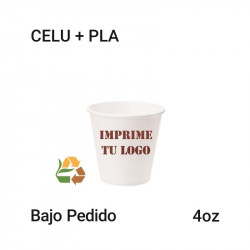 Vaso Papel PLA - 4Oz - 120ml