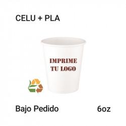 Vaso Papel PLA - 6Oz - 180ml
