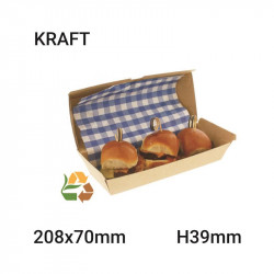 Envase de comida compostable 208x39x70