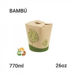 Envase Redondo Noodle Bambú 26oz - 769 cc