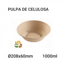 Bowl Redondo Bepulp Compostable 1000ml - 60x208mm