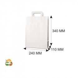 Bolsa Asa Plana PAPEL Blanca 240x110x340mm. /250