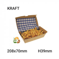 Envase de comida compostable snack 177x50x91