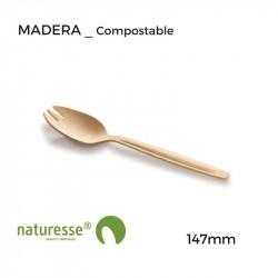 Cuchara-Tenedor - Madera - 147mm