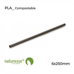 Pajita PLA Negra - 6x250mm