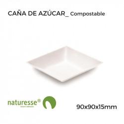 Plato Cuadrado Komodo Llano - 90x90x15mm