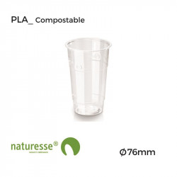 Vaso PLA - Transparente - Ø 76mm