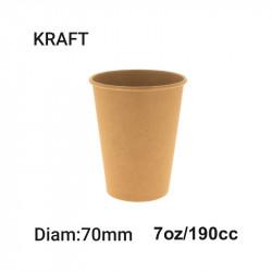 Vaso Papel 7Oz- Diam:70 - Kraft - 50 - 1.000
