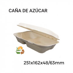 Envase Portamenú 2Comp BIO - 206x155x46/64mm